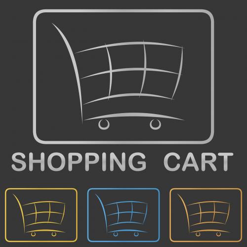 shopping cart icon logo