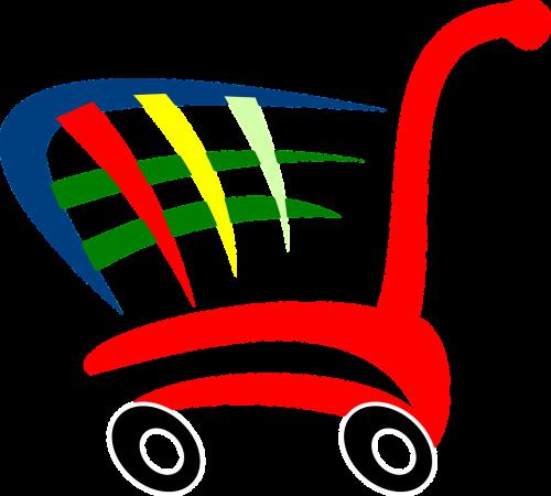 shopping-cart symbol push