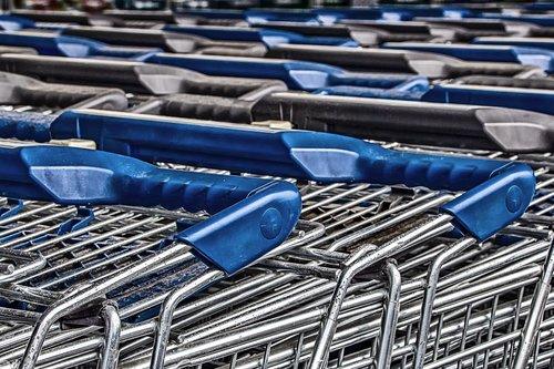 shopping cart  zinc plated  zinc