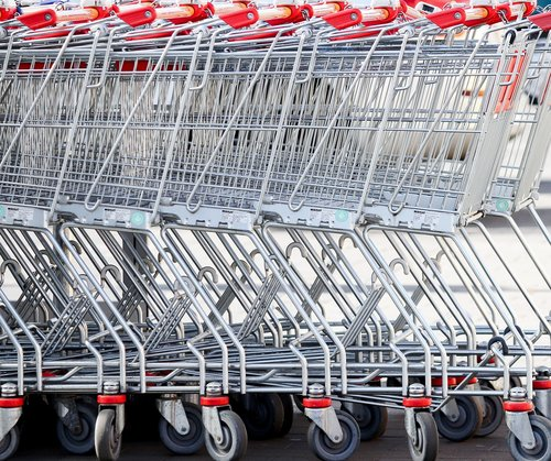 shopping cart  supermarket  slide