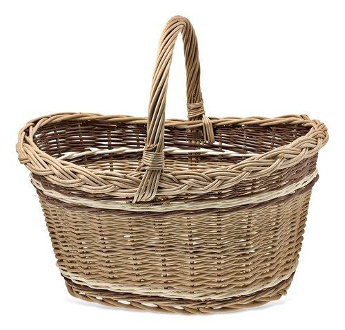 shopping cart  basket wicker  wicker