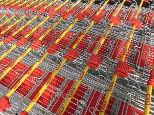 shopping cart steel plastic