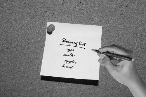 shopping list grocery list list