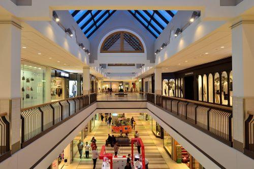shopping mall atrium retail
