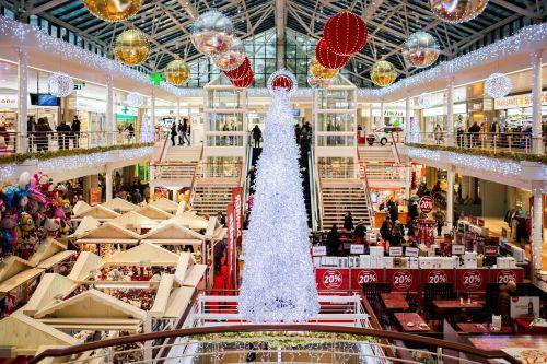 shopping mall christmas christmas tree