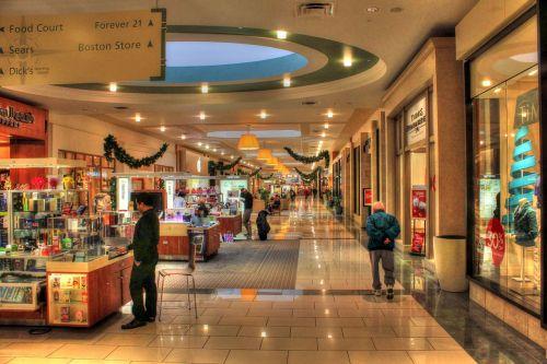 shopping mall corridor shopping