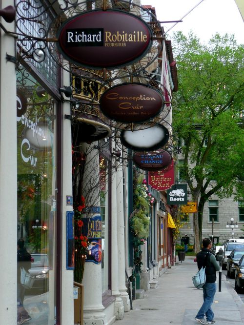 shopping street quebec city quebec