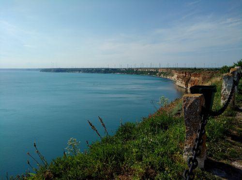 shoreline sea sky