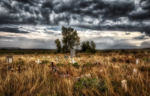 shoshone tribal cemetery  wyoming  america