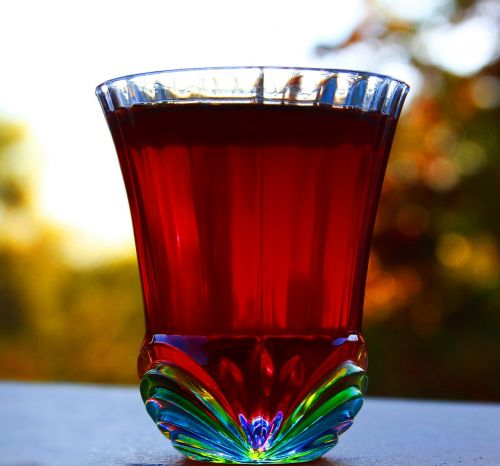shot glass colored glass berry cordial