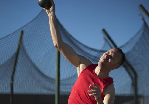 shot putter athlete sport