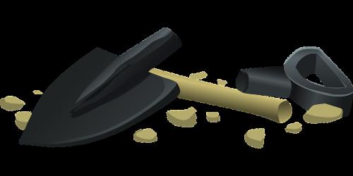 shovel gardening tool