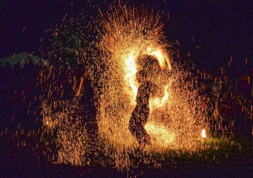 show fire sparks one