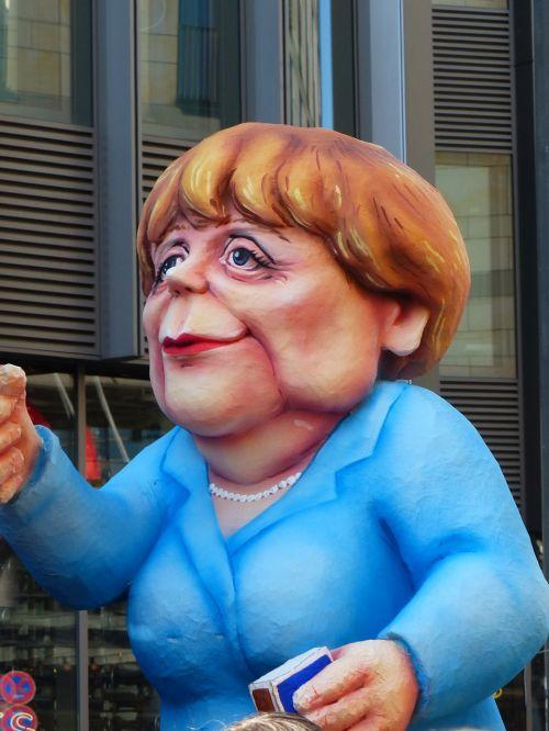 angela merkel politician caricature