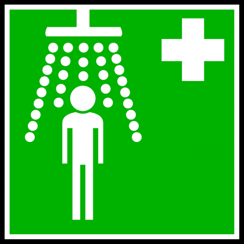 shower sign symbol