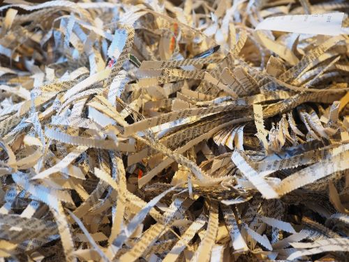 shredder crushed paper