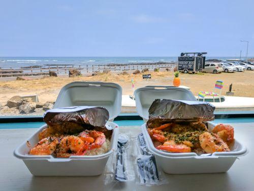 shrimp cooking food