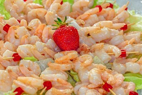 shrimp  skewers  seafood