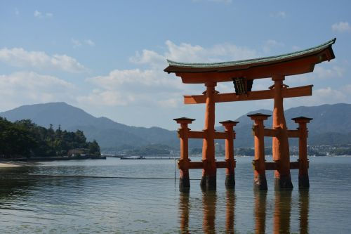 shrine torii sea