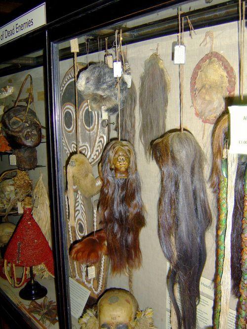 shrunken heads natives tribal
