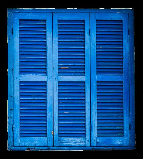shutter blue wood