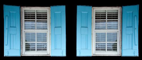 shutters window blue