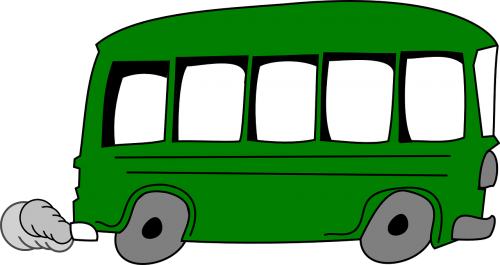 shuttle bus bus green