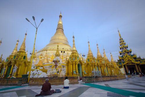 shwedagon pagoda yangon-myanmar myanmar