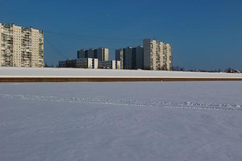 siberia winter quay