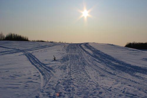 siberia frost sun