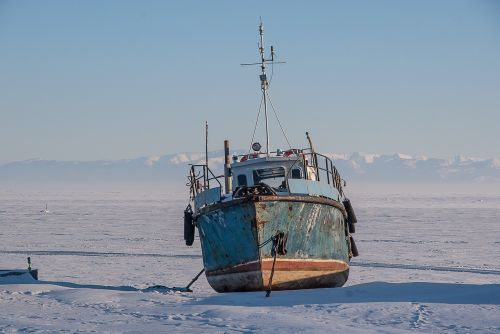 siberia lake baikal ice