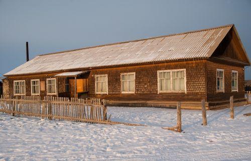 siberia island of olkhon wooden house