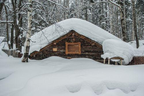 siberia snow chalet
