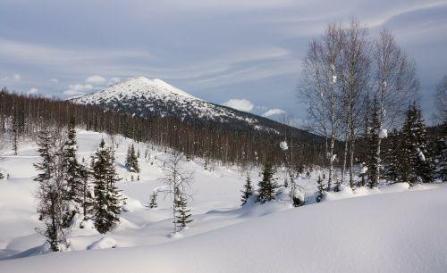 siberia winter snow