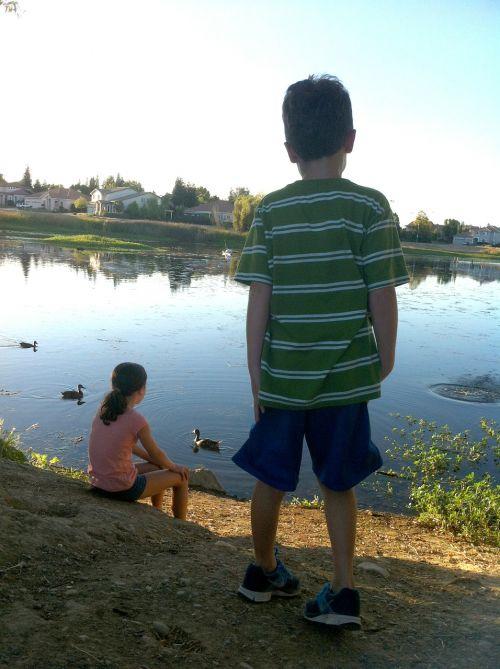 siblings kids boy
