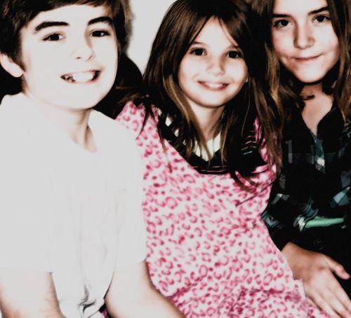Siblings Children Smiley Face
