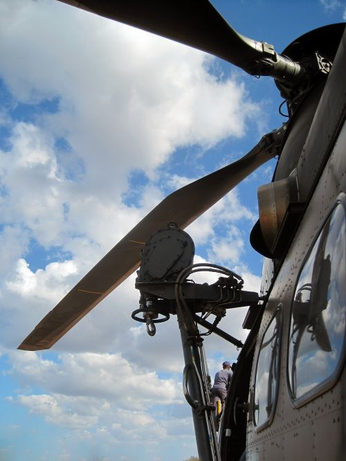 Side And Blades Of Helicopter