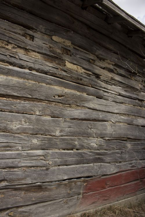 Side Of A Barn Old Wood Planks