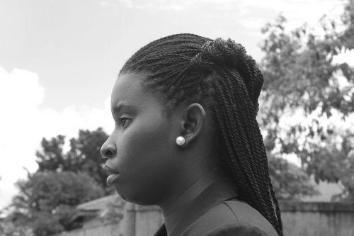 side profile portrait african woman