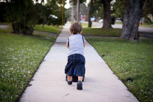sidewalk toddler neighborhood