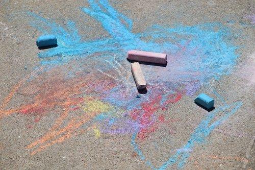 sidewalk chalk  preschool  art