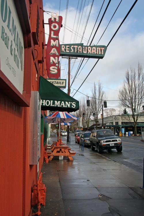 Sidewalk In Portland