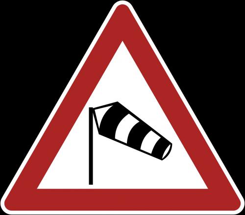 sidewind danger warning