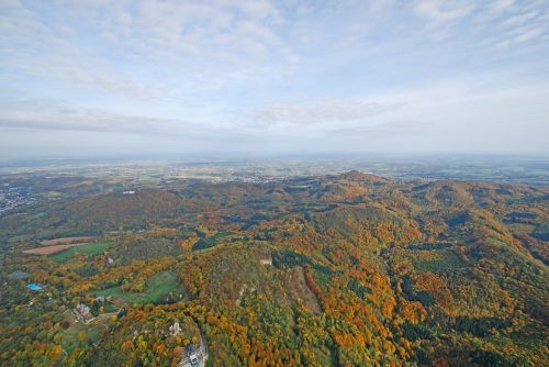 siebengebirge aerial view dragon rock