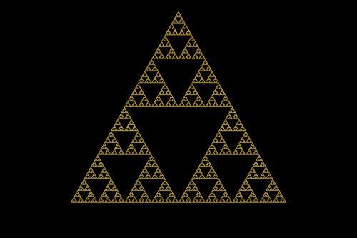 sierpinski triangle chaos fractal