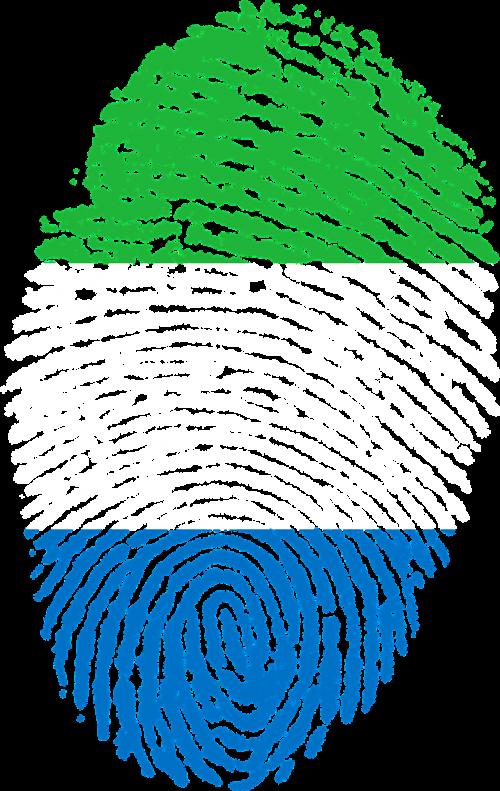 sierra leone flag fingerprint