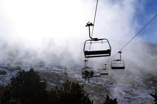 sierra nevada snow fog