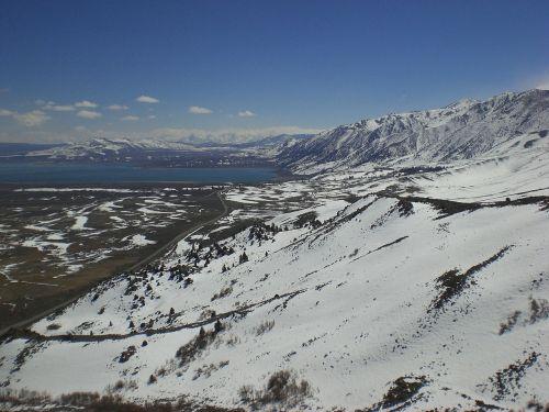 sierra nevada snow capped california