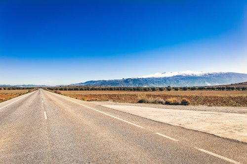 sierra nevada  road  empty