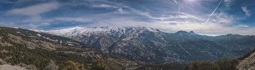 sierra nevada  panorama  landscape